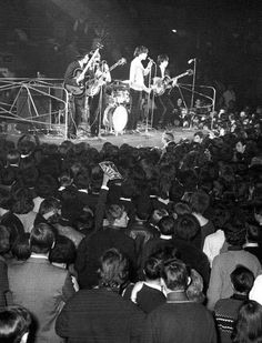 One of the Stones first concerts | Rolling Stones | black and white | history in the making | iconic | rock n roll | music | crowd |