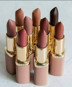 Cute Lipstick, Lipstick Shades, Makeup Lipstick, Lipsticks, Loreal Lipstick Colors, Eye Makeup, Makeup Geek, Makeup Art, Makeup Ideas