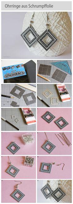 How to make shrink plastic earrings, www.deschdanja.ch