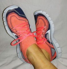 2013 Nike Free Flyknit Grey/Salmon Pink Foil/ White Shoes 7.5-M $160.00 #Nike #RunningCrossTraining