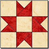 Go Along # 2 Quilt Block - Patriotic