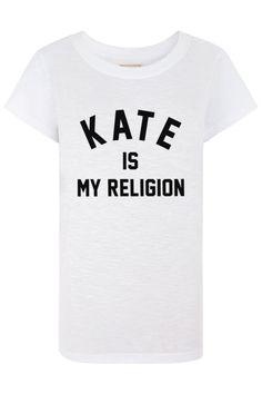 "Pin for Later: Toutes les It Girls du Moment Ont ce T-Shirt  T-shirt ELEVENPARIS ""Kate is my religion"" (environ 55 €)"
