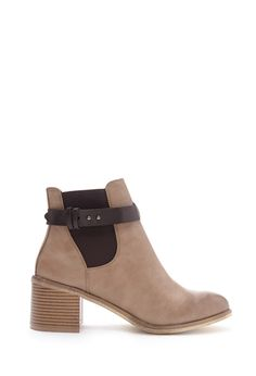 Buckled Faux Leather Booties - Shop All - 2000181047 - Forever 21 EU English