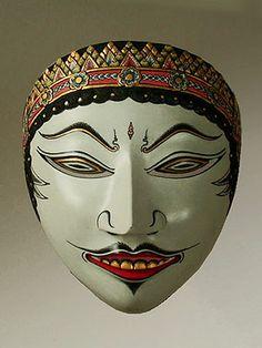 Professional Dalem dance mask, Java, Indonesia