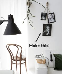 How To: Make Scandinavian-Inspired Hanging Photo Frames! » Curbly | DIY Design Community