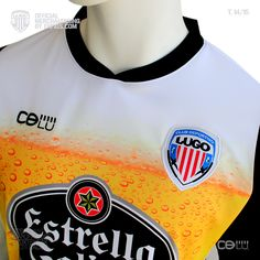 Camiseta caña oficial CLUB DEPORTIVO LUGO, temporada 2014 / 15, Liga Adelante.