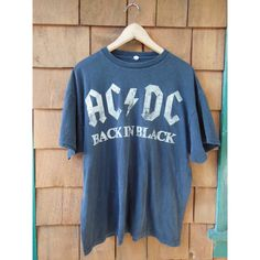 tee Vintage band AC/DC ACDC rock metal t-shirt retour en goth noir... ($49) ❤ liked on Polyvore featuring tops, t-shirts, blue tee, grunge t shirts, vintage tees, vintage rock tees and vintage punk rock t shirts