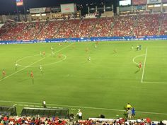 At FC Dallas game...IN A SWEIT!!