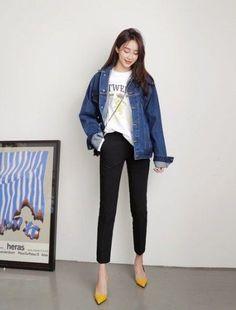 Korean Fashion Trends, Korean Street Fashion, Korea Fashion, Asian Fashion, Daily Fashion, Cute Fashion, Fashion Looks, Fashion Outfits, Fashion Ideas