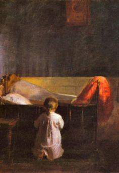 Danish artist Anna Ancher- Evening Prayer