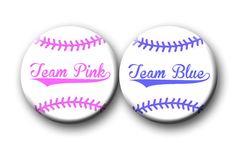 Gender Reveal Party Favor Team Pink Team Blue by PutOnYourPartyCap