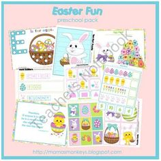 Easter Fun Preschool Pack from LittleMonkeyPrintables on TeachersNotebook.com -  (31 pages)  - Easter Fun Preschool Pack - more than 20 printable activity pages for 3 - 6 year olds