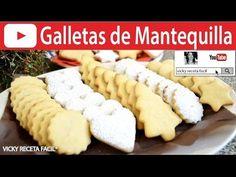 CÓMO HACER GALLETAS DE MANTEQUILLA | Vicky Receta Facil - YouTube