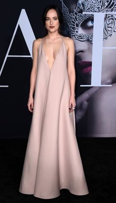 Dakota Johnson in Valentino attends the premiere of L.A. premiere of 'Fifty Shades Darker'. #bestdressed