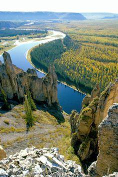 Lena Pillars, Lena River in far eastern Siberia, Russia