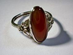 Arts and Crafts carnelian ring (c. 1930) - Bernard Instone