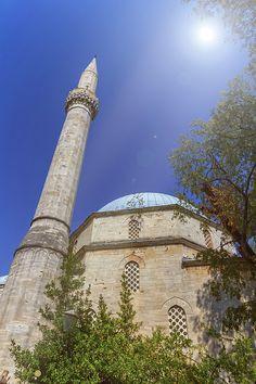 Karadoz Bey Mosque, Mostar, Bosnia And Herzegovina by Elenarts - Elena Duvernay photo Mostar Bosnia, Famous Places, Bosnia And Herzegovina, Mosque, Sunny Days, Travel Photos, Fine Art America, Paris Skyline, Taj Mahal