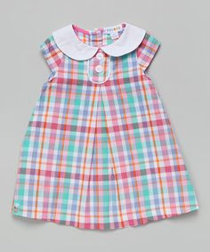 Look at this #zulilyfind! Pink & Blue At Plaid Swing Dress - Infant #zulilyfinds