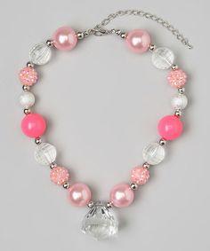 Bubblegum Pink Chunky Gem Necklace