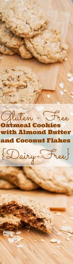 Gluten Free Oatmeal Cookies are entirely flour free, made with whole oats, almond butter, coconut chips and simply brimming with comforting flavors. Just sweet enough.