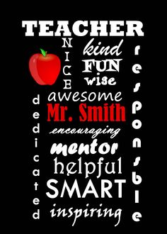 Personalized Teacher Gifts, Personalized Christmas Gifts, Christmas Words, Word Art, Type 1, Theater, Facebook, Photos, Pictures