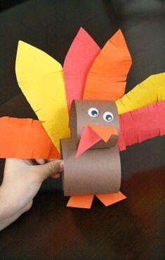 Paper Roll Thanksgiving Turkey Craft