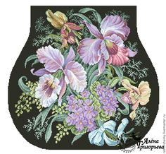 """Схема вышивки """"Королевские орхидеи"""" - схема для вышивки,схема для вышивки крестом"""