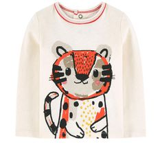 Cotton jersey Pleasant to the touch Straight fit Crew neck Long sleeves Snap buttons in the back Contrast piping Fancy print Logo patch at the back - 42.35 €