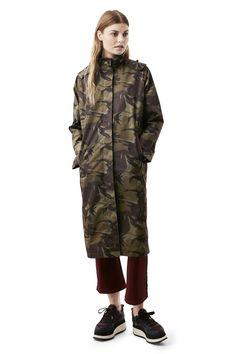 Image result for Ganni Greenwood Camo coat