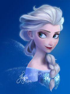 elsa art   Elsa the Snow Queen by couph on deviantART