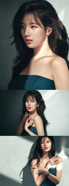 Suzy can be seen draped in jewelry from brand 'Didier Dubot' in new pictures dropped on June wearing the 2016 F/W collection, 'L'air de Paris… Japanese Beauty, Korean Beauty, Asian Beauty, Asian Celebrities, Celebs, Miss A Suzy, Idole, Bae Suzy, Korean Actresses