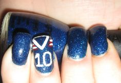 New York Giants Nails only number 80.. Victor Cruz!