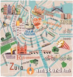 Anna Simmons - Amsterdam map