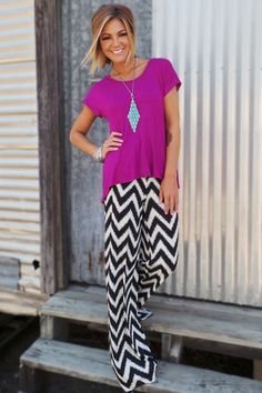 Uma Palazzo Pants | The ZigZag Stripe