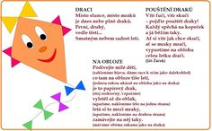 básničky o drakovi Art For Kids, Crafts For Kids, Board Decoration, Thing 1, Kindergarten, Homeschool, Teaching, Education, Children
