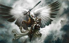 Fantasy magic the gathering serra angel wallpaper background Fantasy Angel, Fantasy Magic, Fantasy Sword, Angels Among Us, Angels And Demons, Male Angels, Fantasy Kunst, Fantasy Art, Dark Fantasy