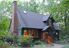 Home Plan for a Gabled Cottage - plans and photo by Ross Chapin Architects - Cabin Life magazine