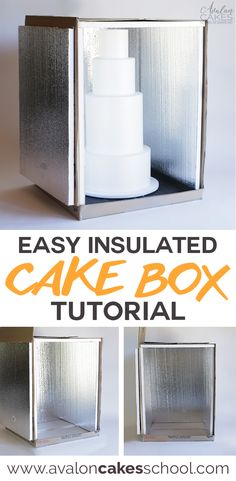 A quick and easy way on how to make an insulated cake delivery box for all your cake needs! This easy and inexpensive DIY is the perfect solution. Only at avaloncakesschool.com