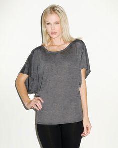 Dolman Sleeve Shirt   Buy womens flowy draped sleeve dolman t-shirt at Gotapparel.com.