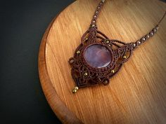 Hey, I found this really awesome Etsy listing at https://www.etsy.com/pt/listing/272534208/macrame-necklace-with-amethyst-intuitive