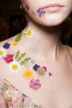MAC's Beauty Look on the Preen Runway Took Spring Florals to the Next Level