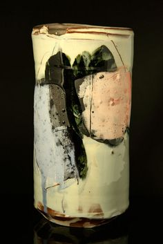Vessel with Blue and Pink by Barry Stedman
