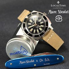 1960's MARC NICOLET & Cie SA [Swiss] 300m Dive Watch Automatic ETA Cal. 2472  PROFESSIONALLY INSPECTED IN-HOUSE AT OUR LOCALTIME SPA