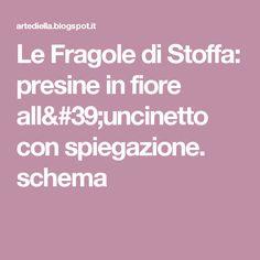 Le Fragole di Stoffa: presine in fiore all'uncinetto con spiegazione. schema