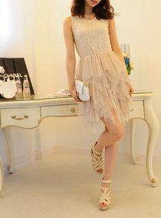 Chiffon and Lace ballerina Tinker Bell tutu Dress