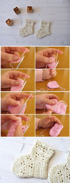 How to crochet easy lace baby socks - Crochet Kingdom : This tutorial will show you how to crochet pretty lace baby socks. This tutorial is suitable for beginners. Crochet Baby Socks, Crochet Socks Pattern, Crochet Baby Blanket Beginner, Crochet Slippers, Crochet For Kids, Easy Crochet, Crochet Lace, Crochet Shoes, How To Crochet Socks