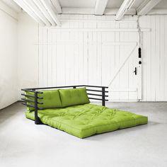 Sofa rozkładana dwuosobowa Karup Funk Black/Lime