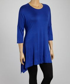 Another great find on #zulily! Royal Sidetail Tunic - Plus by MOA Collection #zulilyfinds
