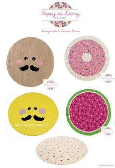 Bondville: Doughnut rugs, watermelon rugs and more from Happy As Larry Designs