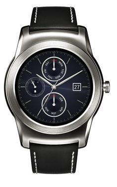 *LG G Watch R Urbane BLACK/SILVER W150 Bluetooth Wi-Fi Smart Wearable P-OLED 4GB #LGSmartWatchUrbaneLGW150